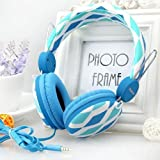 Blue 3.5mm Adjusting Stereo Headphone Earphone Headset for Dj PSP Mp3 Mp4 Pc with Micro and Audio Transfer As Gift
