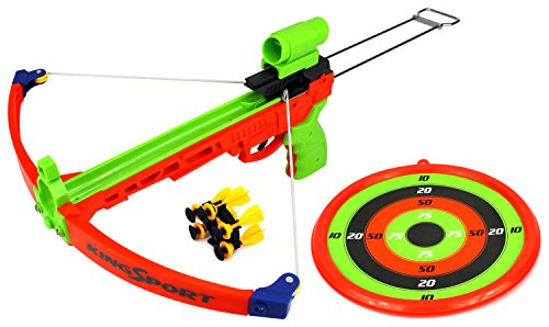 Velocity Toys Supreme Shooter Children's Kid's Toy Crossbow Dart Play Set w/ Practice Target, 5 Suction Darts w/ Holder, Mock Scope (Target Practice Kids compare prices)