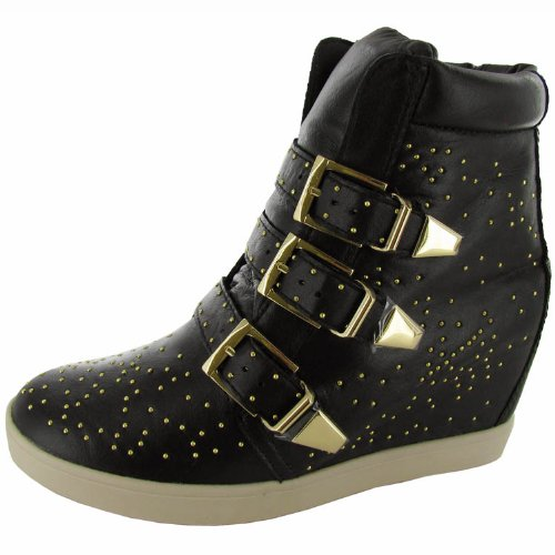 7838b8e34c99c2 The Features Steven By Steve Madden Women s Jeckle Fashion Sneaker Black  Leather 7 5 M US -
