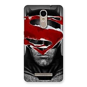 Ajay Enterprises Super S And Black Face Back Case Cover for Xiaomi Redmi Note 3