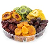 Healthy Tropical Dried Fruit Gift Tray 2 Pounds - 6 Section - Oh! Nuts