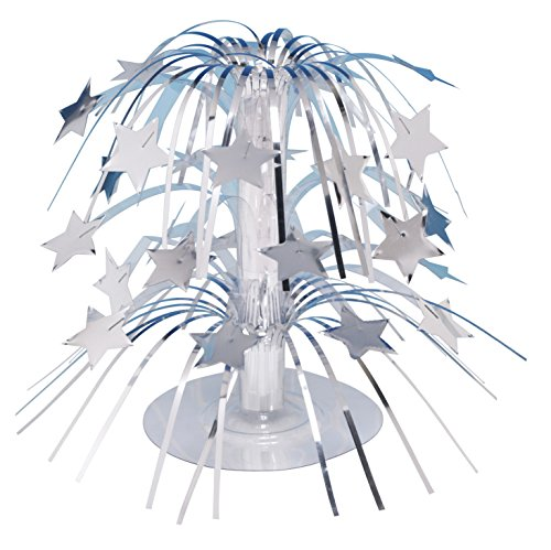 Creative Converting 261013 Stars Mini Cascade Table Centerpiece, Silver