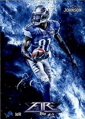 2014 Topps FIRE Football Card #88 Calvin Johnson - Detroit Lions MINT