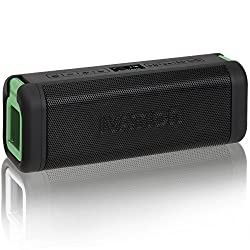 Ivation Acoustix All-Terrain Bluetooth Speakers w/ FM Radio & LCD Display IPX7 Water & Dust Proof - Rechargeable 2500mAh Battery for 9 Hour Play Time