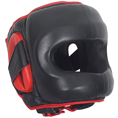 Ringside Deluxe Face Saver Boxing Headgear, Black, Small/Medium