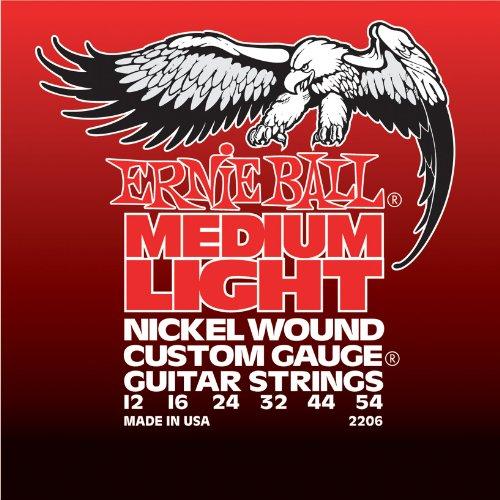 Ernie Ball 2206 Medium Light Nickel Wound Set with  wound G (12 - 54)