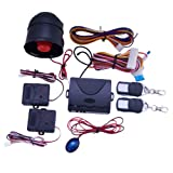 One Way Car Alarm Vehicle Security System Auto Central Locking with 2 Remote