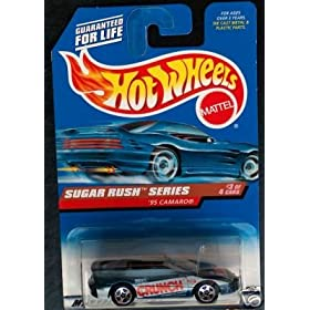 Mattel Hot Wheels 1998 1:64 Scale Sugar Rush Series 1995 Blue Nestle Crunch Chevy Camaro Die Cast Car 3/4