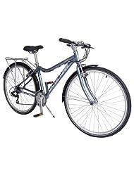 Col de Turini Loire 700c Commuter Bike - Ladies (Grey and Pink)