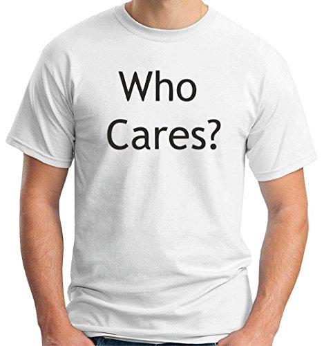 T-shirt TDM00301 who cares, Taglia medium