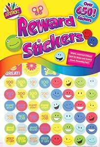 ArtBox 650 assorted children's reward stickers