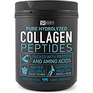 Premium Collagen Peptides (16oz) | Grass-Fed, Certified Paleo Friendly, Non-Gmo and Gluten Free - Unflavored and Easy to Mix