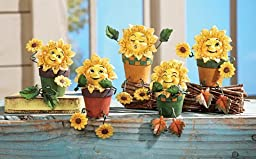 Collectible Sunflower Shelf Sitters - Set Of 5 by Collections Etc