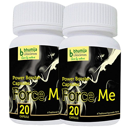 Bhumija Lifesciences Sexual Wellness (Force Me) Capsules For Men - 20 Tablets (Combo Pack of Two)