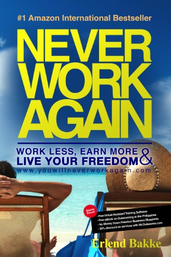 Book: Never Work Again - Work Less, Earn More and Live Your Freedom by Erlend Bakke