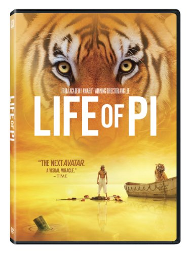 Life of Pi (Directed by Ang Lee) - Embark on the adventure of a lifetime in this visual masterpiece from Oscarr winner Ang Lee*, based on the best-selling novel. After a cataclysmic shipwreck, young Pi Patel finds himself stranded on a lifeboat with the only other survivor - a ferocious Bengal tiger named Richard Parker. Bound by the need to survive, the two are cast on an epic journey that must be seen to be believed.