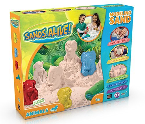 3D Safari Animal Sand Molds Set - 1 lb Sands Alive, 3 3D Animal Shapes, 2 Rollers And Play Sand Tray - 51gEQLOg8nL - 3D Safari Animal Sand Molds Set – 1 lb Sands Alive, 3 3D Animal Shapes, 2 Rollers And Play Sand Tray