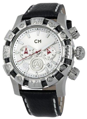 Carlo Monti CM122-112 - Reloj cronógrafo de cuarzo para hombre con correa de piel, color negro