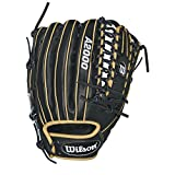 Wilson A2000 OT6 Outfield Baseball Glove, Black/Blonde, Left Hand Thrower, 12.75/Black/Blonde