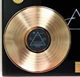 "Pink Floyd ""Dark Side Of The Moon"" Gold Clad LP Record LTD Edition Display"