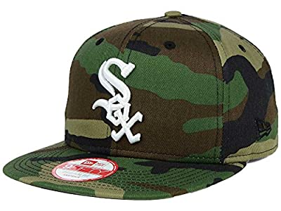 NEW ERA 9fifty MLB Chicago White Sox HAT State Clip Snapback Woodcamo One Size CAP