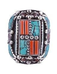 Tibet Jewelry,Coral Ring,Tibetan Jewelry,Ring - B00LB06F3E