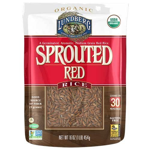Lundberg Organic Sprouted Red Rice, 1 Pound -- 6 per case. (Lundberg Rice Red compare prices)