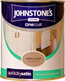 Johnstones No Ordinary Paint One Coat Quick Dry Water Based Satin Coffee Cream 750ml