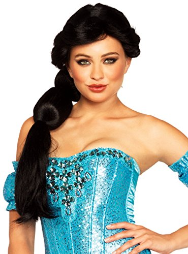 Sexy Sultry Adult Women Aladin Jasmine Princess Wig Cosplay Costume Accessory