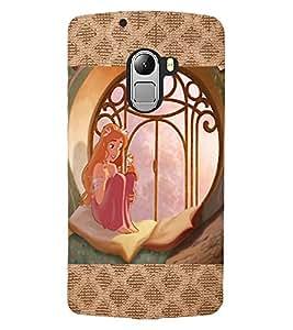 ColourCraft Lovely Princess Design Back Case Cover for LENOVO VIBE X3 LITE