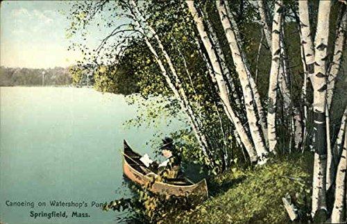 Canoeing on Watershop's Pond