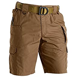 5.11 Men\'s Taclite 11-Inch Inseam Shorts, Battle Brown, 30-Waist