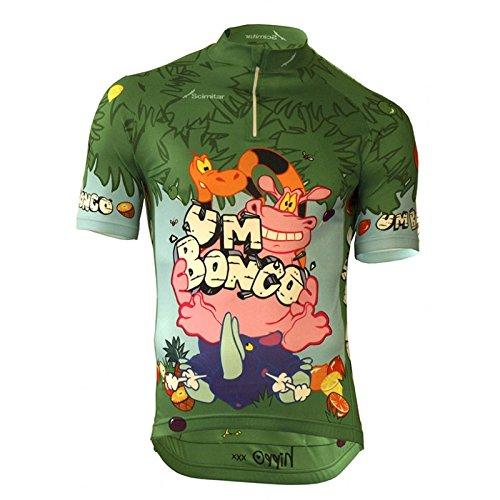 Scimitar Sports um Bongo ciclo Jersey, unisex, Um Bongo, verde, S