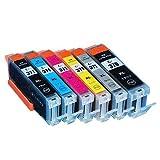 キャノン(CANON) 6色 【大容量】 互換 インクカートリッジ BCI-370 / BCI-370XL (純正同様の顔料ブラック)/ BCI-371 / BCI-371XL 残量表示チップ搭載 ≪ベルカラー≫