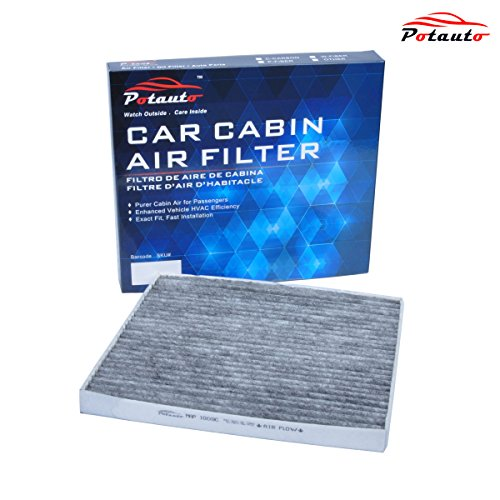 POTAUTO MAP 1009C Heavy Activated Carbon Car Cabin Air Filter Replacement compatible with CHEVROLET, PONTIAC, SATURN
