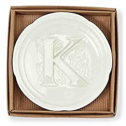 Mud Pie Boxed Initial Accessory Dish-K
