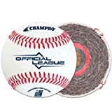 Champro Sports Double Cusion Cork Core/Full Grain Leather Cover Official League Baseball. 1 Dozen. CBB-300