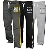 ARD Men's Fleece Joggers Track Suit Bottom Jogging Exercise Fitness Boxing MMA Gym Sweat Fleece Trousers (Charcoal,Black,Grey)