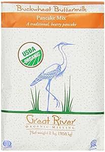 Great River Organic Milling Organic Buckwheat Buttermilk Pancake Mix, 2 Pound Bags (Pack of 4)