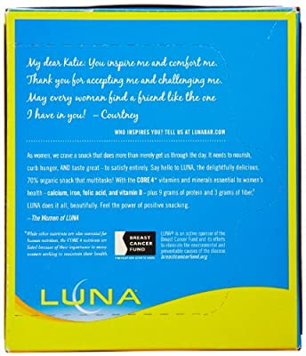 LUNA BAR - Gluten Free Bar - Lemon Zest - (1.7 oz, 6 Count)