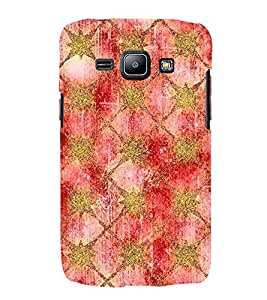 Printvisa Artistic Golden And Maroon Net Pattern 3D Hard Polycarbonate Designer Back Case Cover For Samsung Galaxy J1 :: Samsung Galaxy J1 J100F (2015)