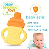Baby Teething Toys - BPA Free Natural Organic Freezer Safe Teether Set for 3 to 12 Months Babies, Infants, Toddlers by Ashtonbee (5 Pack)