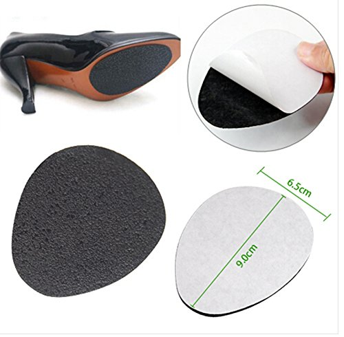 2PAIRS Self-Adhesive Anti-Slip Stick on Shoe Grip Pads Non-slip Rubber Sole Protectors