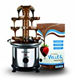 Kitchen - New Cascade Chocolate Fountain Plus 900gram Luxury Belgian Milk Chocolate - Chocolate Fountains