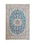 Navaei & Co. Alfombra Persian Nain Extra 9 Lah Azul/Multicolor 246 x 150 cm