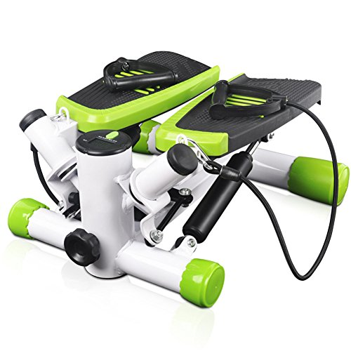 New YX the 4 Generation Multi Home Fitness Machine,Twist Plate/Handle Bar Stepper/Dumbbells/Pull Rop...
