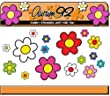 30 Funky Daisy Stickers