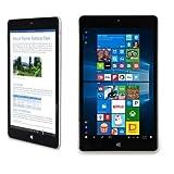 NuVision 8-inch Full HD (1920 x 1200) IPS Touchscreen Tablet PC, 1.44 GHz Intel Atom x5-Z8300 Quad-Core Processor, 2GB RAM, 32GB SSD eMMC, Webcam, WIFI, Windows 10, Silver