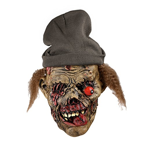 Home-World Creepy Latex Zombie Mask with Hat Halloween Party Costumes Haunted House Prop (Haunted House Prop Ideas)
