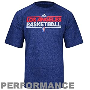 NBA adidas Los Angeles Clippers On-Court ClimaLITE Heathered Performance T-Shirt -... by adidas